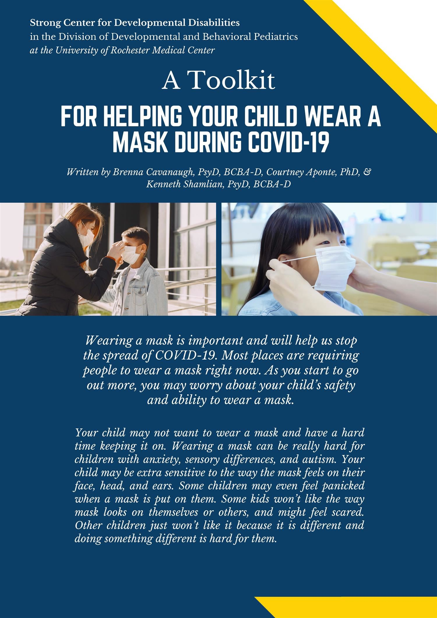 A Toolkit for Helping a Child Wear a Mask
