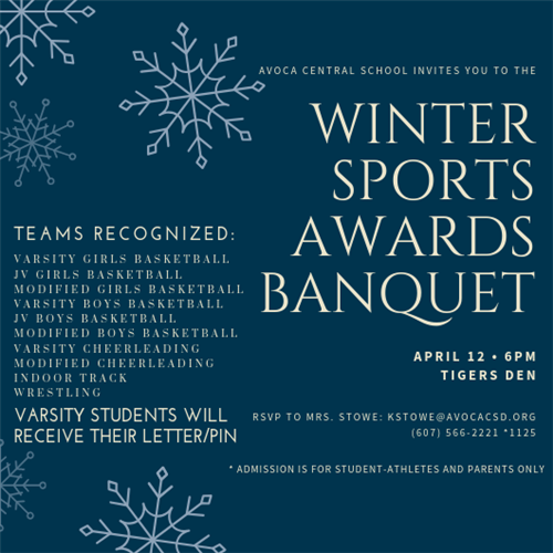 Winter Sports Awards Banquet Invitation