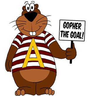 Our Mascot:  Gopher the Goal!